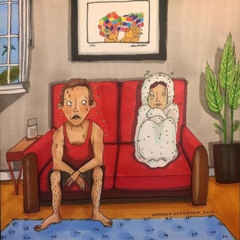 15 ilustrações que revelam segredos da vida de um casal, que poucos se atrevem a falar